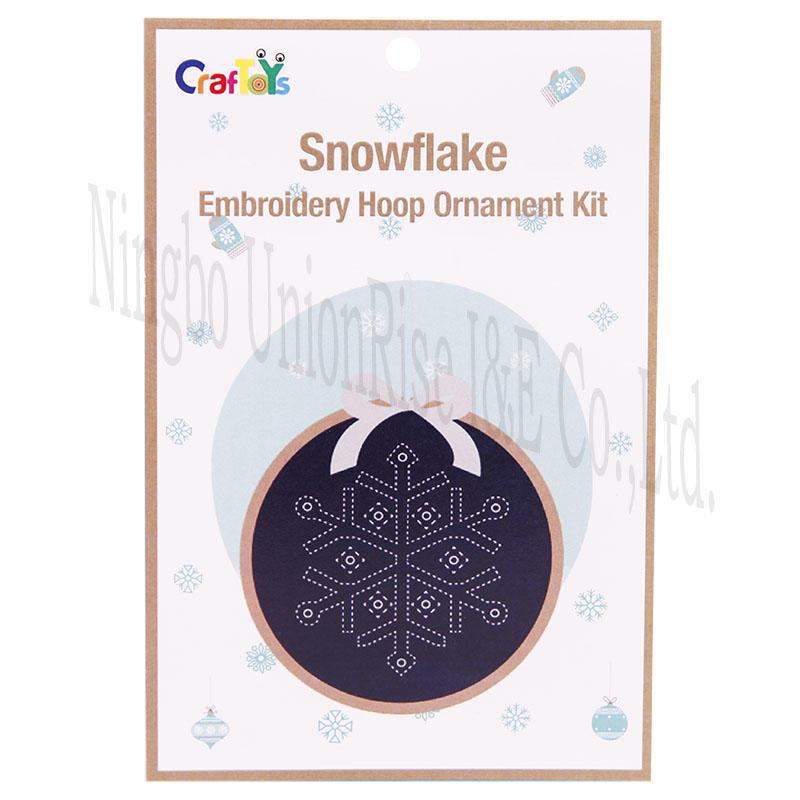Snowflake Embroidery Hoop Ornament Kit