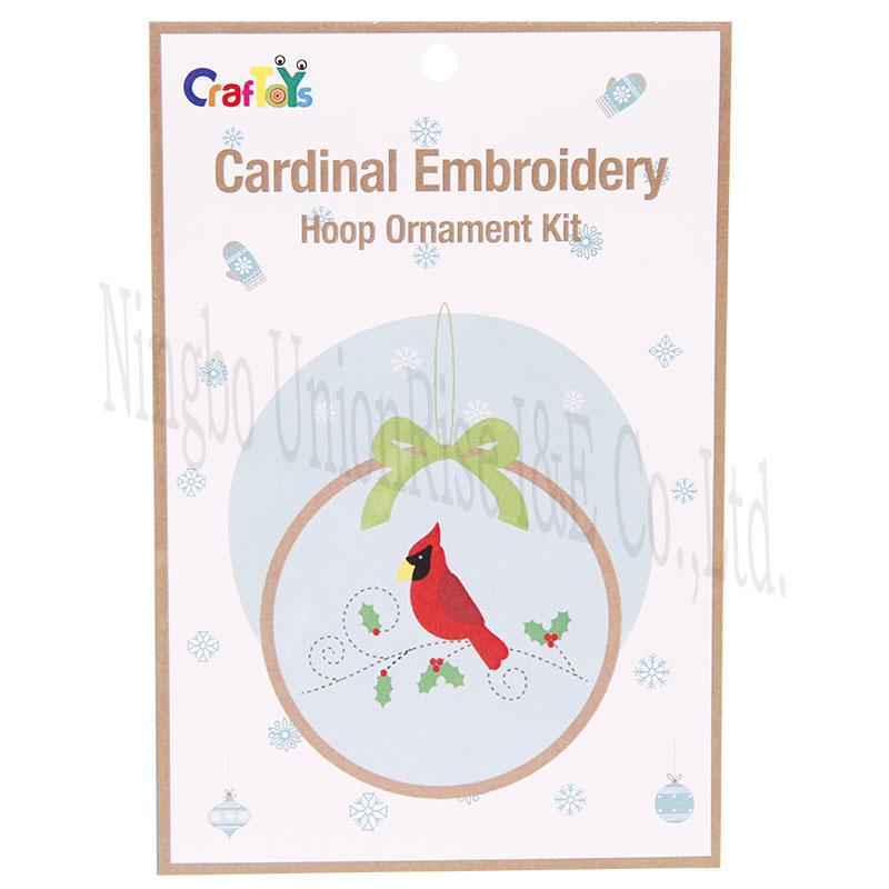 Cardinal Embroidery Hoop Ornament Kit