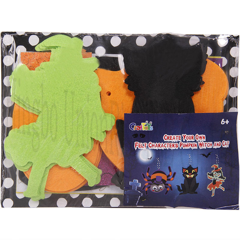 Create Your Own Felt Characters  Pumpkin Witch And Cat