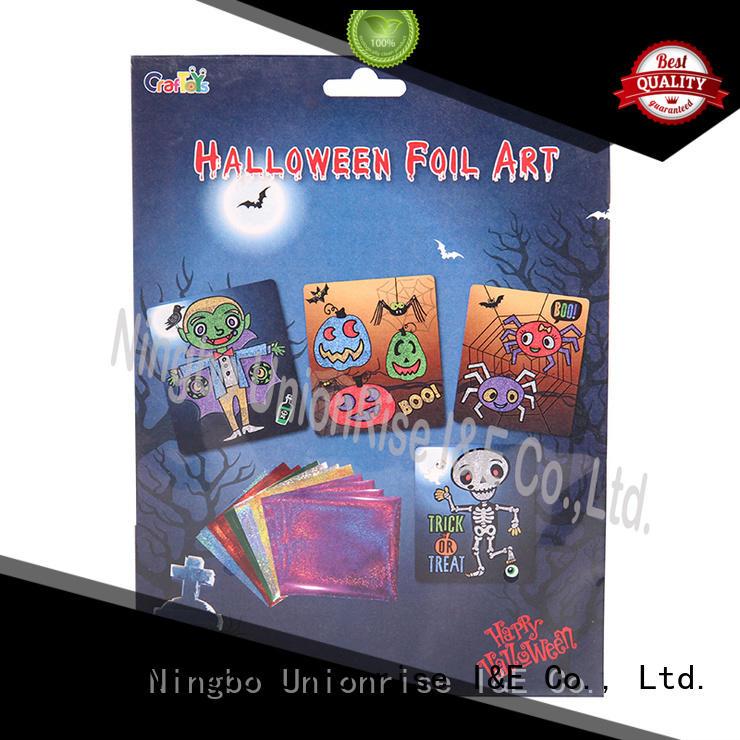 foil art kit Halloween theme free sample lesson