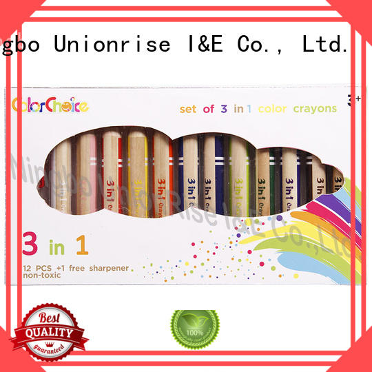 Unionrise multi-colors kids crayons high-quality from top manufacturer