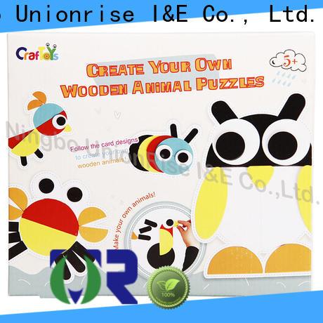 Unionrise shapes wood craft kits Supply for kids