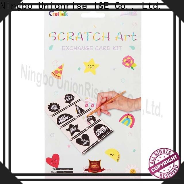 Unionrise art scratch art kits factory for children