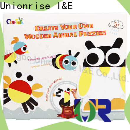 Unionrise wooden wood craft kits factory for kids